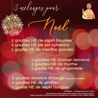 3 mélanges d'huiles essentielles pour Noël