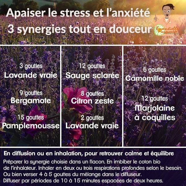 Huiles essentielles anxiété et stress