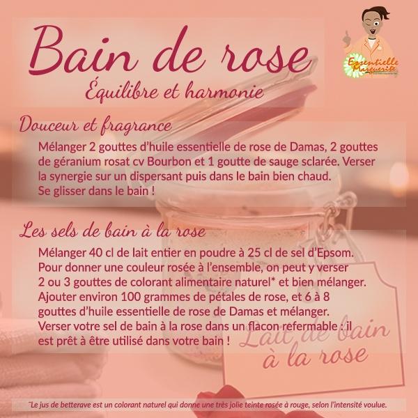 Bain de rose