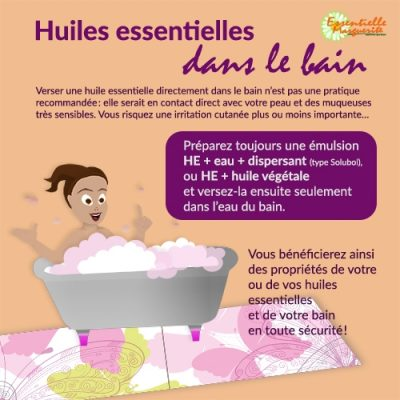 EsHuiles essentielles dans le bain