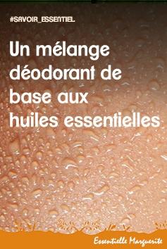 Mélange déodorant de base aux huiles essentielles