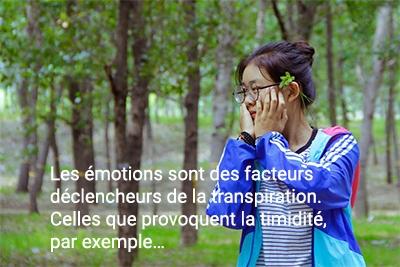 Émotions et transpiration