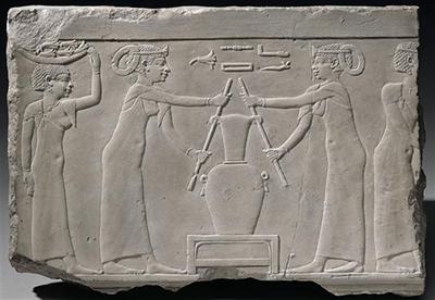 Pressage des fleurs de lys – Égypte ancienne