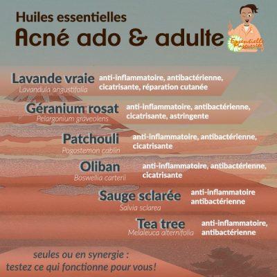 Acné et huiles essentielles