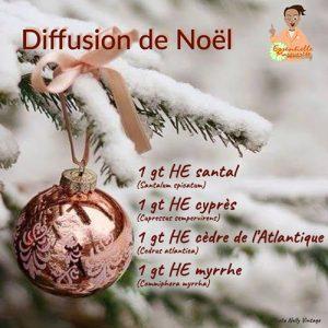 Diffusion Noël huiles essentielles