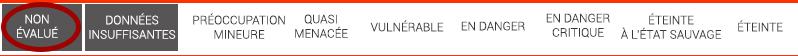 1. Échelle IUCN : non évalué