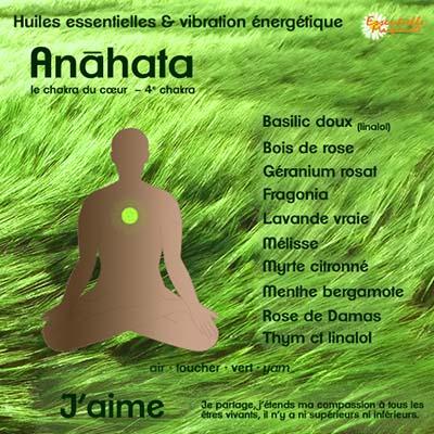 Chakras et huiles essentielles : anahata