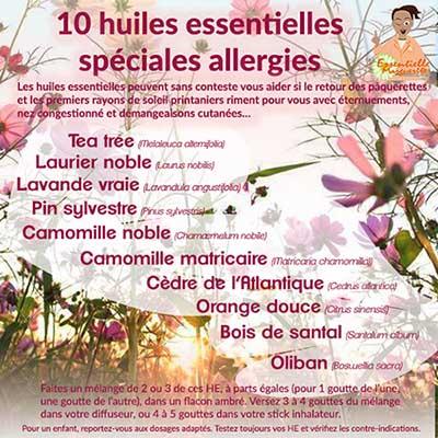 10 huiles essentielles contre les allergies