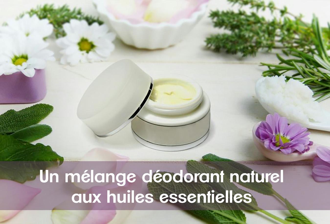 Mélange déodorant naturel aux huiles essentielles