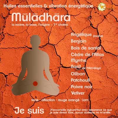 Chakras et huiles essentielles : muladhara